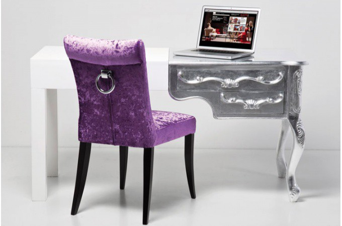 bureau blanc laqu baroque mobilier de bureau design. Black Bedroom Furniture Sets. Home Design Ideas