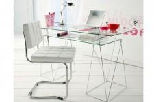 Bureau en verre Kare Design double plateaux Byblos, deco design