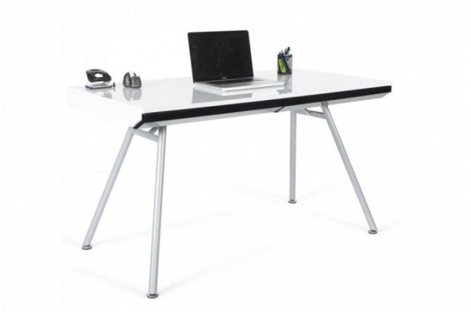 Bureau rectangulaire design blanc aristide bureaux pas cher for Bureau garcon pas cher