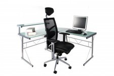 Bureau Work en Verre Teinté Blanc , deco design