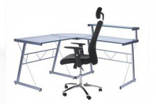 Bureau Work en Verre Transparent , deco design