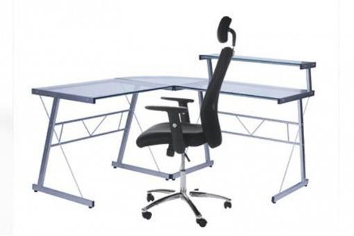 bureau work en verre transparent bureaux pas cher. Black Bedroom Furniture Sets. Home Design Ideas