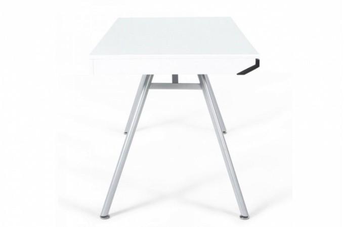 Bureau rectangulaire design blanc aristide bureaux pas cher - Bureau blanc design pas cher ...