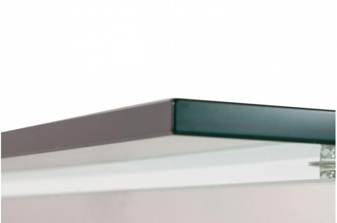 Bureau verre et acier pas cher for Meuble bureau verre acier