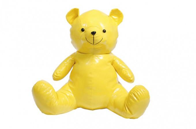 Peluche nounours jaune cadeaux pour elle pas cher for Objet deco design jaune