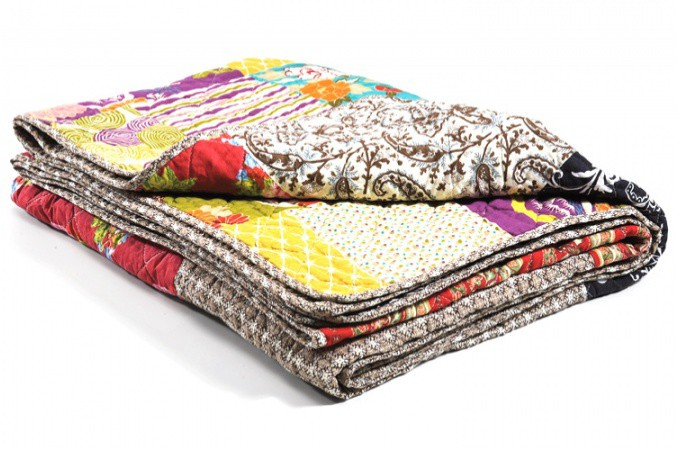 Plaid patchwork en coton ottawa plaids pas cher declik deco - Plaid canape pas cher ...