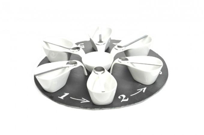 set ap ritif 13 pi ces en porcelaine blanc accessoires pas cher. Black Bedroom Furniture Sets. Home Design Ideas