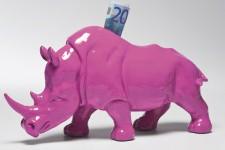 Tirelire Rhinocéros Kare Design en Polyrésine Violet, deco design