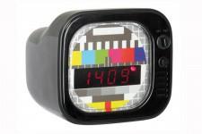 Horloge Design Réveil Téléviseur Kare Design Rétro Noir, deco design