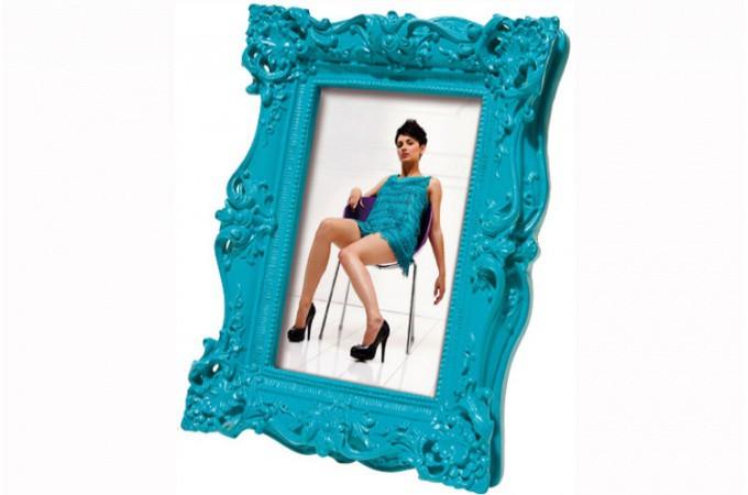 cadre photo 10x15 baroque bleu cadres photos pas cher. Black Bedroom Furniture Sets. Home Design Ideas