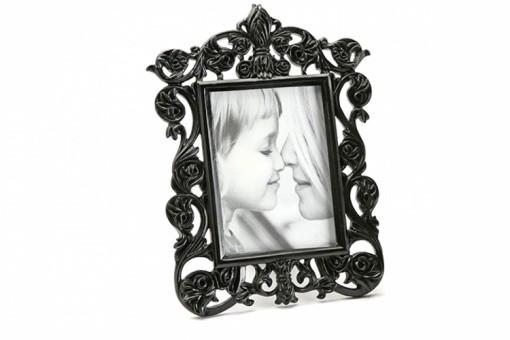 Cadre photo baroque noire ir na 10x15 cm cadres photos pas cher - Petit cadre baroque pas cher ...