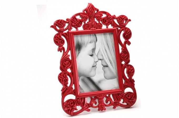 Cadre photo baroque rouge ir na 10x15 cm cadres photos pas cher - Cadre photo rouge design ...