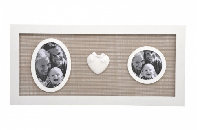 cadre photo coeur en bois mathilde cadres photos pas cher. Black Bedroom Furniture Sets. Home Design Ideas