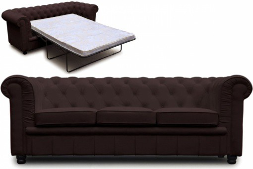 Canap chesterfield choco convertible avec matelas canap design convertibl - Canape convertible avec matelas ...