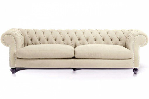 canape chesterfield velours  places cloute beige