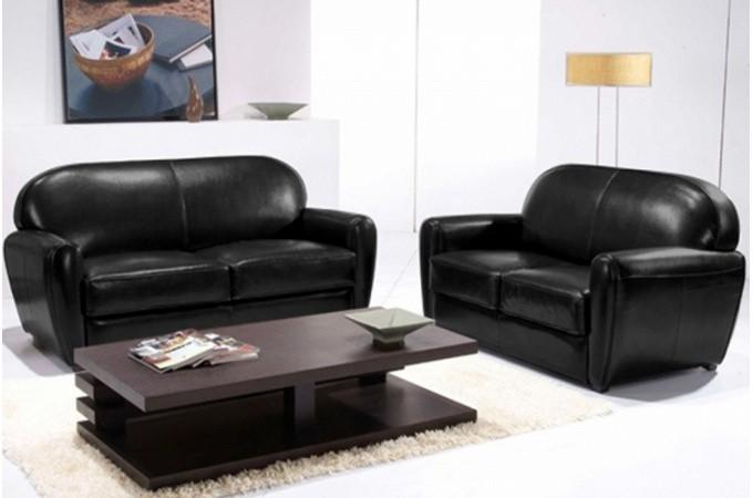 canap club 3 places noir pas cher. Black Bedroom Furniture Sets. Home Design Ideas