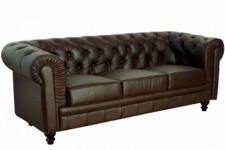 Canapé marron chesterfield Olivia