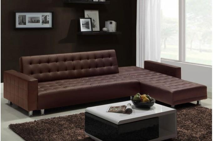 canap d 39 angle marron pas cher. Black Bedroom Furniture Sets. Home Design Ideas