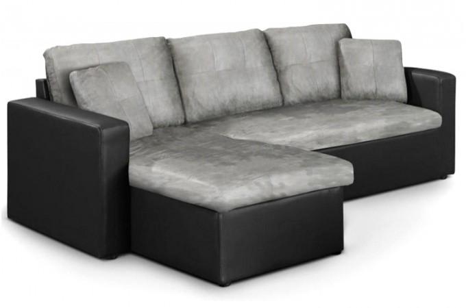 canape convertible microfibre gris. Black Bedroom Furniture Sets. Home Design Ideas