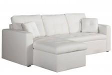 b22966d50a567 DeclikDeco - Canapé d'angle modulable et convertible 3 places blanc Enzo - Canape  convertible