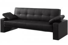 Canapé Lit convertible matelassé noir Loft, deco design