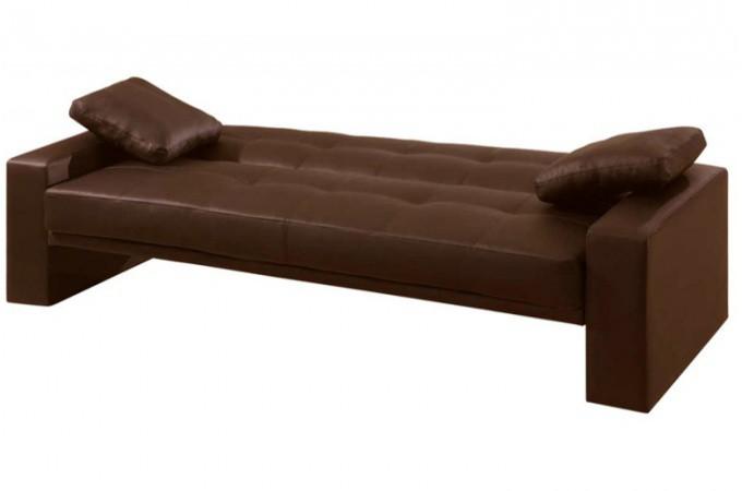 Canap lit convertible matelass marron loft - Canape banquette design ...