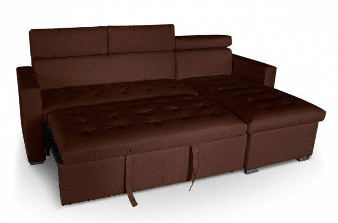 Canap d 39 angle convertible choco pas cher - Banquette d angle convertible ...