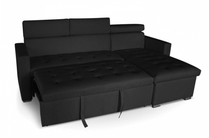 Canap d 39 angle convertible noir pas cher - Banquette angle convertible ...