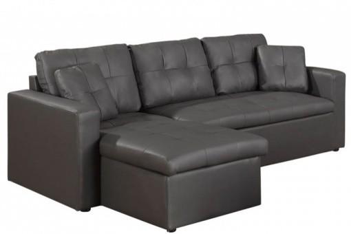 canap d 39 angle modulable et convertible 3 places gris enzo canap d 39 angle pas cher. Black Bedroom Furniture Sets. Home Design Ideas