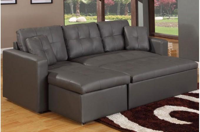 canap d 39 angle modulable et convertible 3 places gris enzo. Black Bedroom Furniture Sets. Home Design Ideas