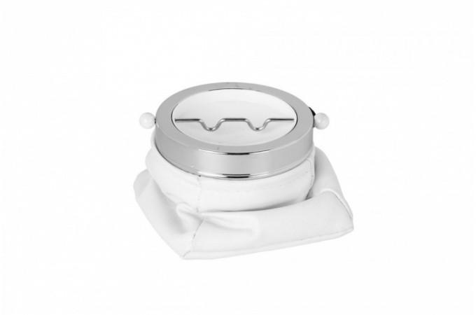 Cendrier de poche blanc m tal et simili cuir bourse for Bourse exterieur gratuit