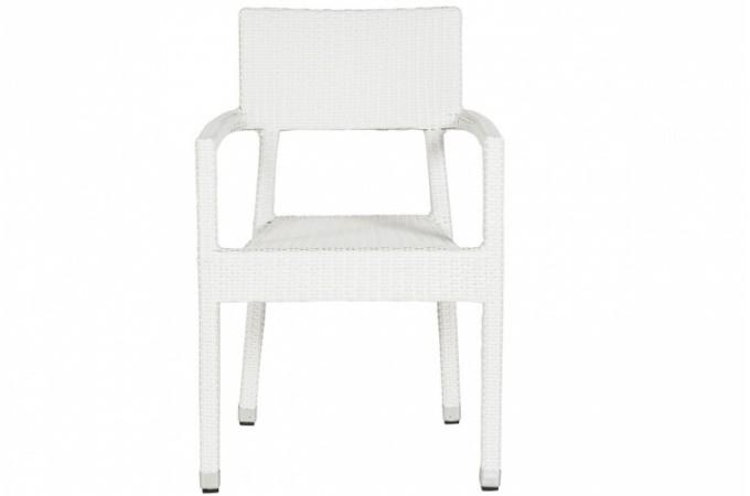 Chaise blanche en osier doriane chaises design pas cher - Chaise en osier ...