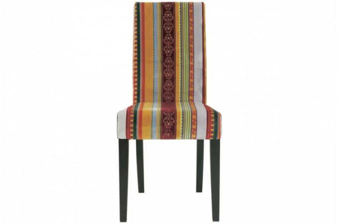 chaise multicolore en tissu chaise design color e. Black Bedroom Furniture Sets. Home Design Ideas