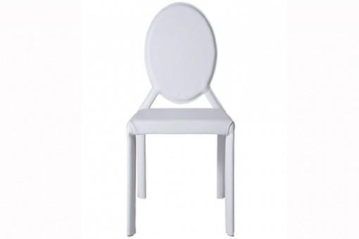 chaise simili cuir blanc louis loft chaises design pas cher. Black Bedroom Furniture Sets. Home Design Ideas