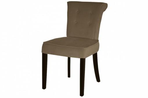 chaise velours capitonn e beige boudoir fauteuils poufs pas cher. Black Bedroom Furniture Sets. Home Design Ideas