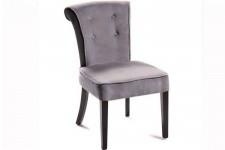 Chaise Design Chaise velours capitonnée grise Boudoir, deco design