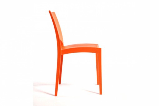 Lot de 2 Chaises Design Oranges VENISE