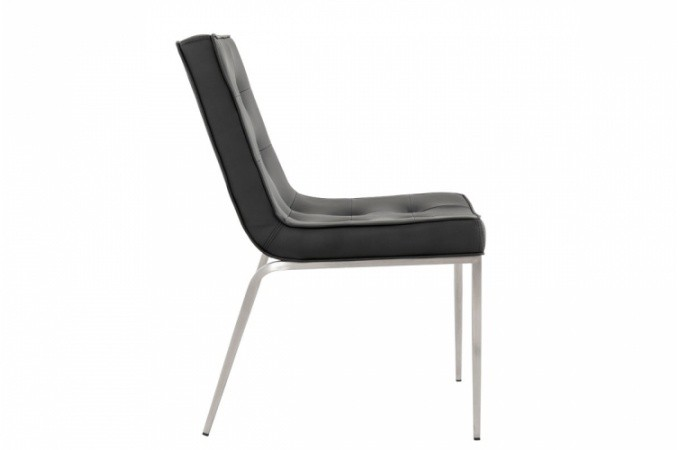 Chaise design simili cuir noir pas cher for Imitation meuble designer
