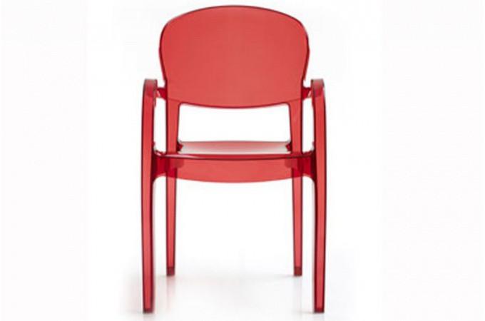 Lot de 2 chaises rouge transparente victory chaise for Meuble chaise design