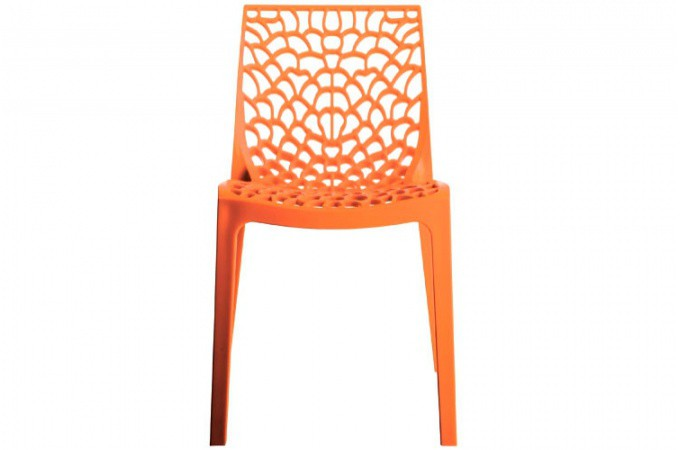 lot de 2 chaises design orange gruyer chaises design pas cher. Black Bedroom Furniture Sets. Home Design Ideas