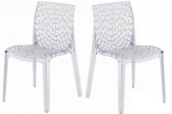 lot de 2 chaises transparentes gruyer chaises design pas. Black Bedroom Furniture Sets. Home Design Ideas