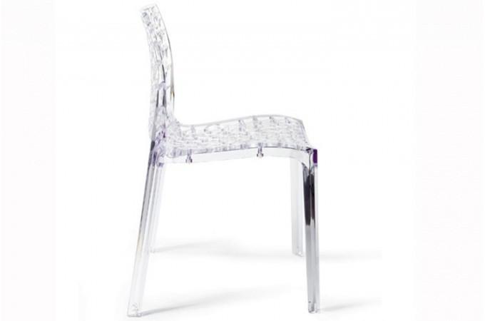 lot de 2 chaises transparentes gruyer chaises design pas cher. Black Bedroom Furniture Sets. Home Design Ideas