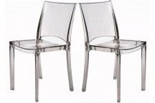Lot de 2 Chaises Transparente NILO - Meuble transparent design