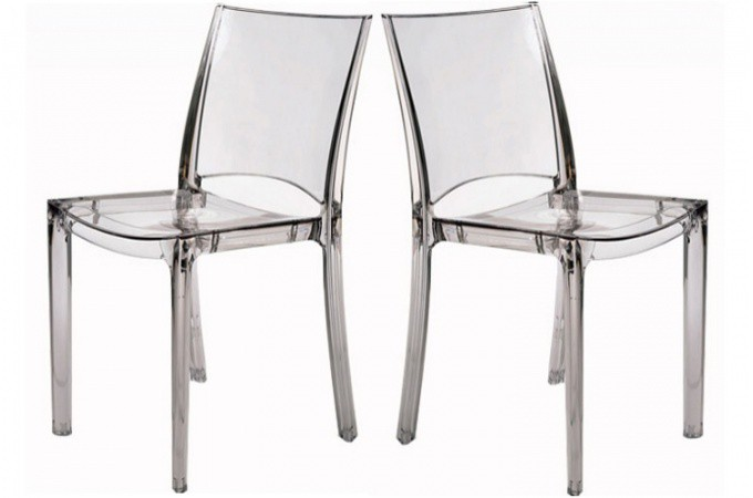 lot de 2 chaises transparente crystal chaises design pas. Black Bedroom Furniture Sets. Home Design Ideas