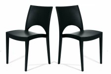 Chaise Design Lot de 2 chaises design anthracite Venise, deco design