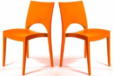 Lot de 2 Chaises design Orange VENISE - Chaise orange design