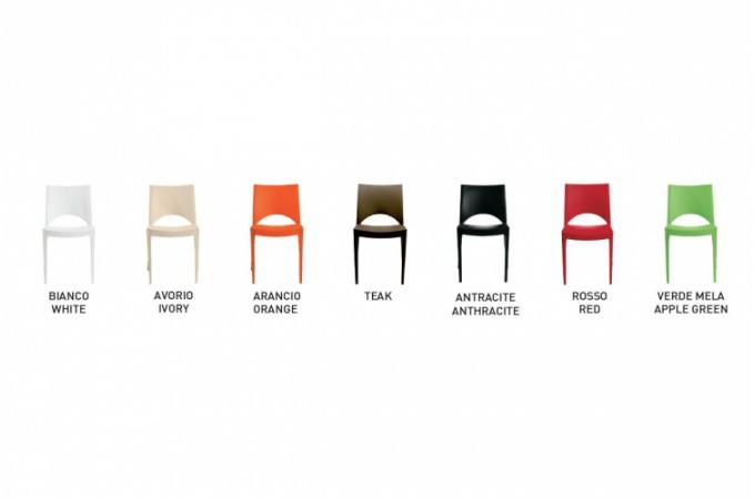 Lot de 2 chaises design orange venise chaises design pas - Lot de chaises design pas cher ...