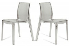 Lot de 2 Chaises Transparentes LADY - Lot de 2 chaises design