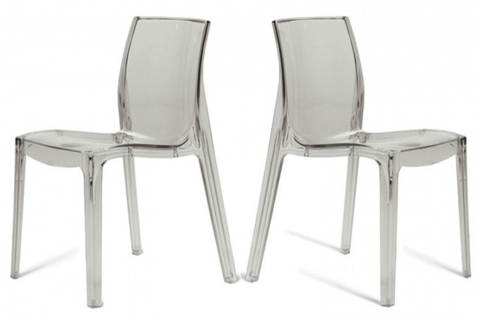 Lot de 2 chaises transparentes lady chaises design pas cher - Lot de chaise design pas cher ...