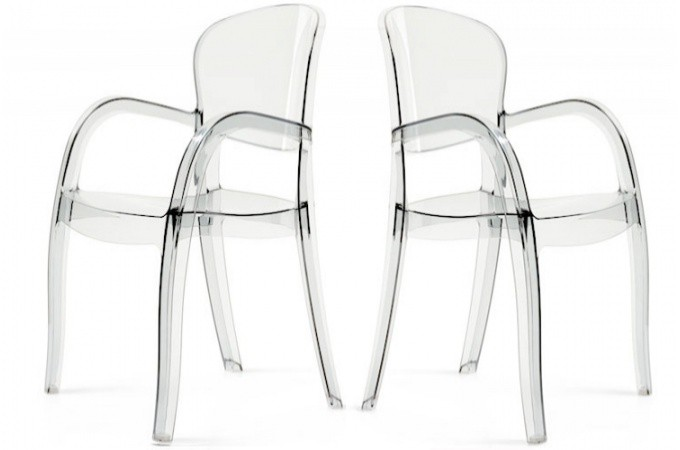 lot de 2 chaises transparentes victor chaises design pas cher. Black Bedroom Furniture Sets. Home Design Ideas